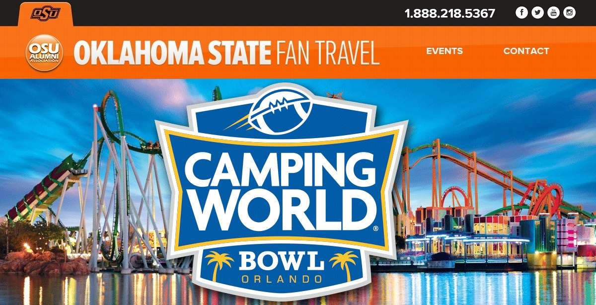Official Oklahoma State Camping World Bowl Travel Packages