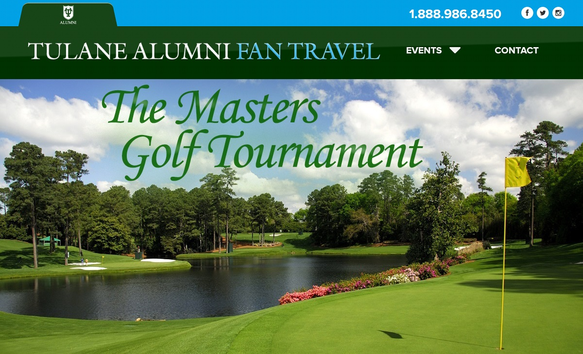Tulane Alumni The Masters Travel Package