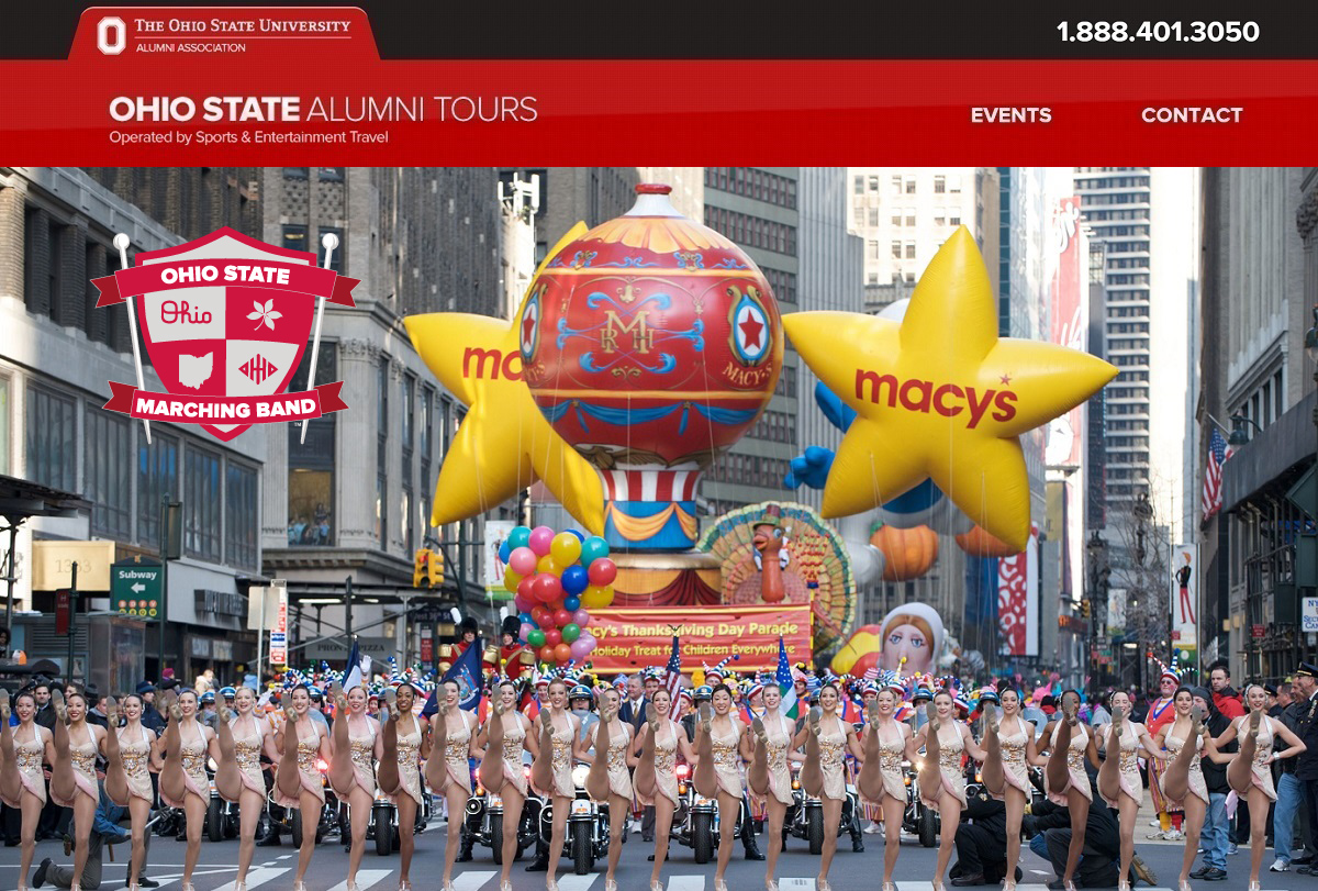 Ohio State Macy's Thanksgiving Parade Official Tour
