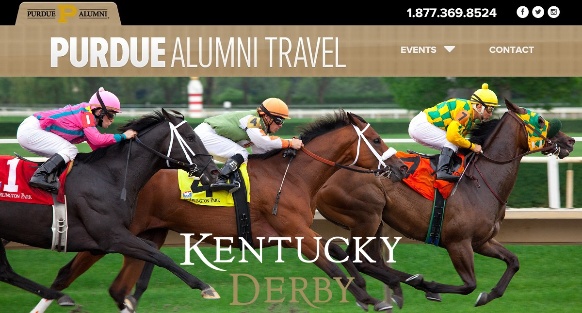Official Purdue Kentucky Derby Travel Package